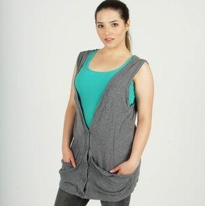 Express gray sweater vest